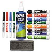 EXPO Low-Odor Dry Erase Marker Eraser & Cleaner Chisel/Fine 12/Set