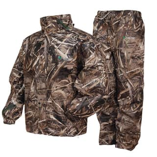 Frogg Toggs All Sports Max 5 Camo Plastic Suit|https://ak1.ostkcdn.com/images/products/13869149/P20509442.jpg?impolicy=medium
