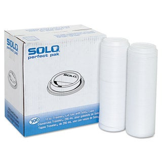 SOLO Cup Company Traveler Drink-Thru Lid White 300/Carton