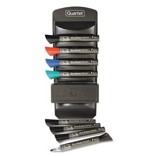 Quartet Dry Erase Marker Caddy Kit with 8 Chisel-tip Markers