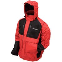 Frogg Toggs Firebelly Toadz Black and Red Large Jacket