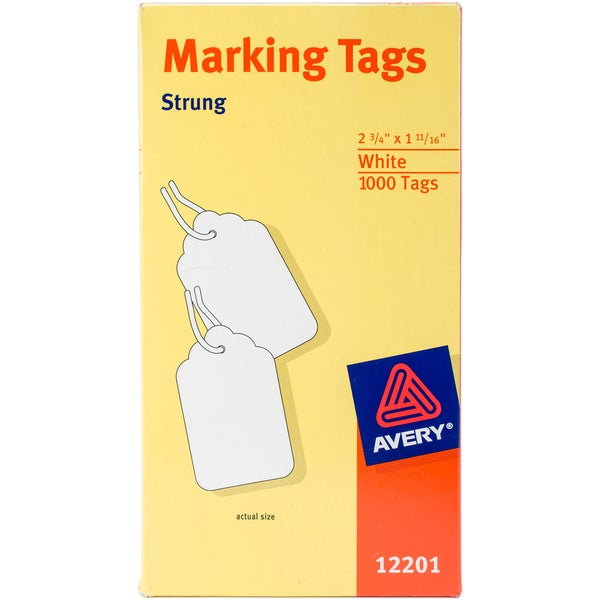 shop avery medium weight white marking tags 2 3 4 x 1 11 16 1 000