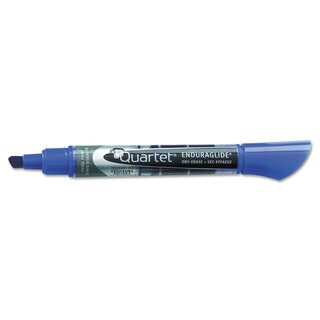 Quartet EnduraGlide Dry Erase Marker Chisel Tip Blue Dozen