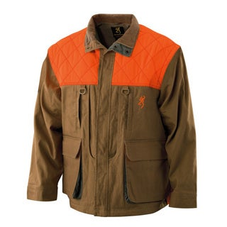 Browning Upland Field Tan Canvas Large Zip-sleeve Jacket