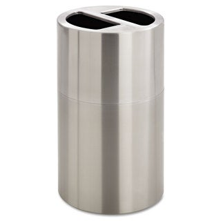 Safco Dual Recycling Receptacle 30gal Stainless Steel