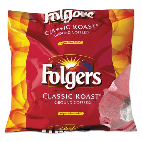 Folgers Coffee Filter Packs Regular 0.9-ounce Filter Pack 40/Carton
