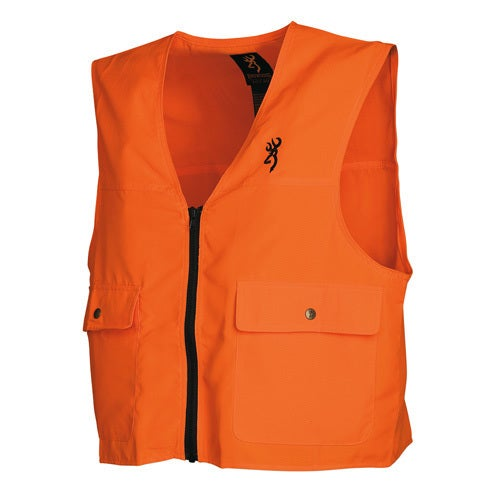 Browning Safety Blaze Orange/Black Overlay Vest (Medium),...