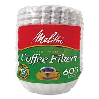 Melitta Basket Style Coffee Filters Paper 8 to 12 Cups 7200/Carton
