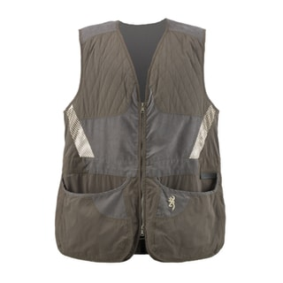 Browning Men's Summit Green and Dark Grey Shooting Vest