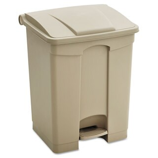 Safco Large Capacity Plastic Step-On Receptacle 23gal Tan