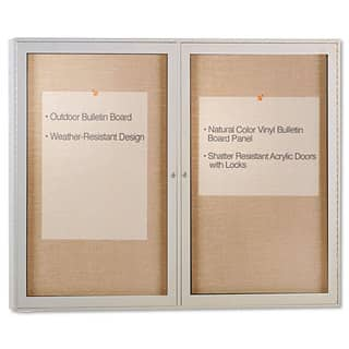Ghent Enclosed Outdoor Bulletin Board 48 x 36 Satin Finish https://ak1.ostkcdn.com/images/products/13869297/P20509330.jpg?impolicy=medium