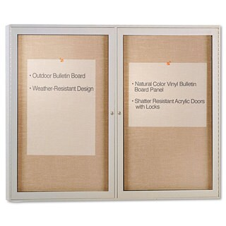 Ghent Enclosed Outdoor Bulletin Board 48 x 36 Satin Finish