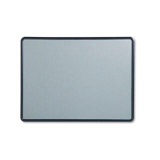 Quartet Contour Fabric Bulletin Board 48 x 36 Light Blue Plastic Navy Blue Frame