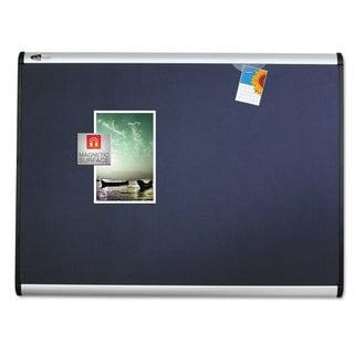 Quartet Prestige Plus Magnetic Fabric Bulletin Board 48 x 36 Aluminum Frame