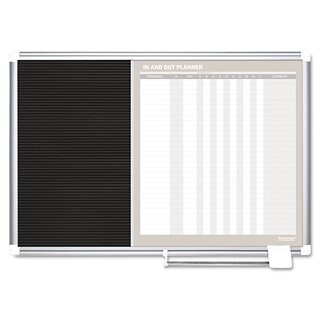 MasterVision In-Out and Notice Board 24x18 Silver Frame
