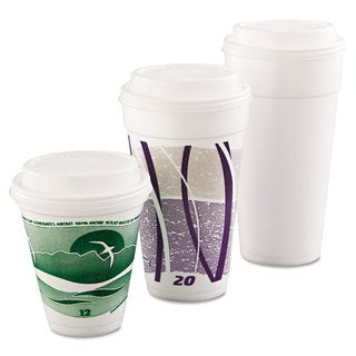 Dart Cappuccino Dome Sipper Lids Fits 12-24-ounce Cups White 1000/Carton