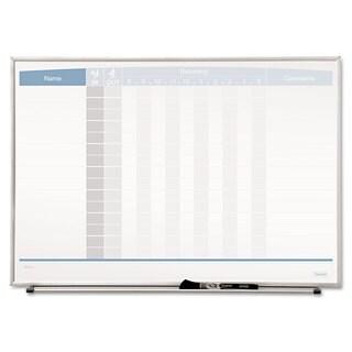 Quartet Horizontal Matrix Employee Tracking Board 23 x 16 Aluminum Frame