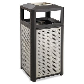 Safco Ashtray-Top Evos Series Steel Waste Container 38gal Black