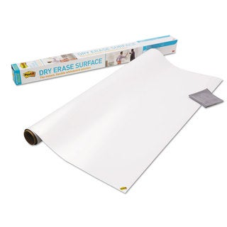 Post-it Dry Erase Surface with Adhesive Backing 72 x 48 White