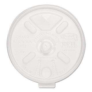 Dart Liftn'Lock Lids 10-14-ounce Cups Translucent 100/Sleeve 10 Sleeves/Carton