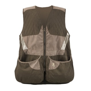 Browning Men's Summit Chocolate/ Taupe Shooting Vest