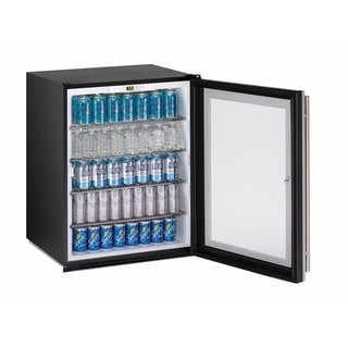 U-Line ADA Series- 24 Inch ADA Compliant Stainless Steel Glass Door All Refrigerator w/ Lock