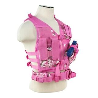 NCStar Pink Camo PVC Tactical Vest