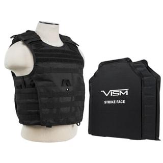 NcStar Black Polyethylene 11-inch x 14-inch Soft Panels Expert Plate Carrier Vest