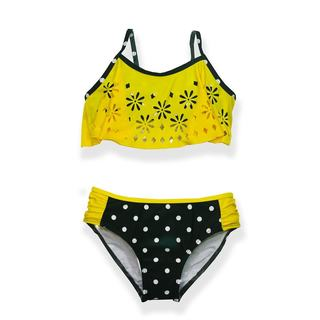 Jump'N Splash Girls' Polka Dot Cutout Flounce Bikini