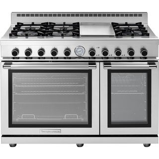 "Tecnogas Superiore Range NEXT 48"" Panorama Stainless steel"