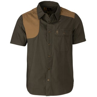 Browning Austin Loden/Taupe Cotton Short-sleeve Shooting Shirt (2 options available)