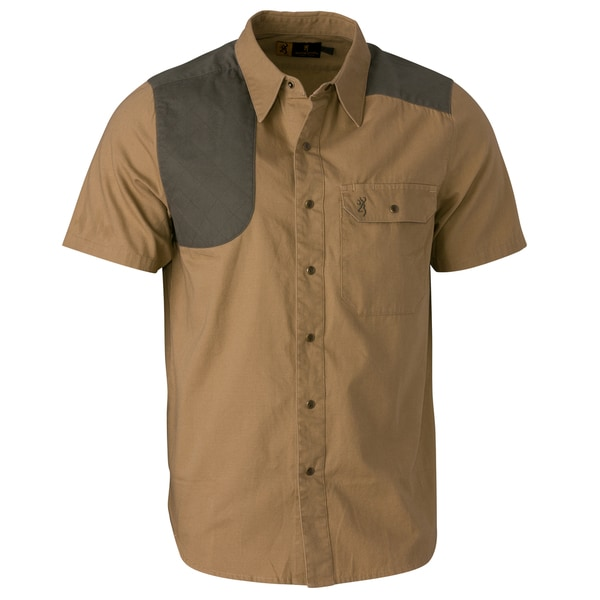 Browning Austin Taupe/Loden Short-sleeve Shooting Shirt