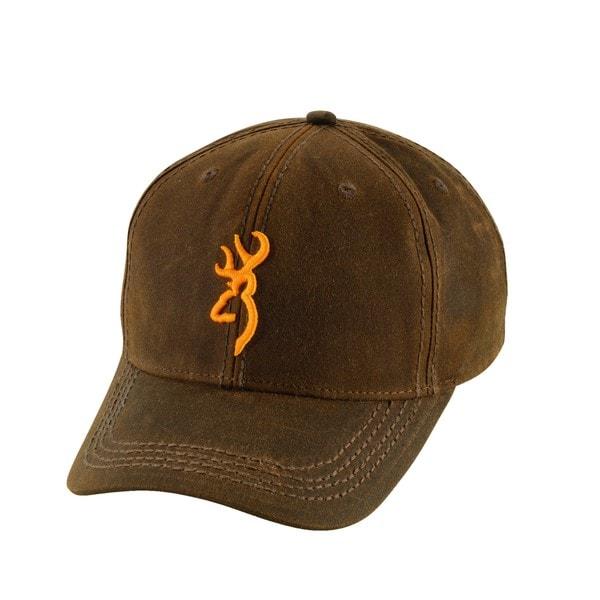 Browning Brown Cotton Dura-Wax 3-D Buckmark Cap