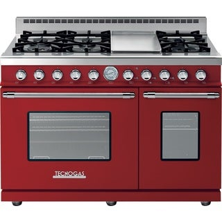 "Tecnogas Superiore Range DECO 48"" Classic Red matte with Chrome Accents"