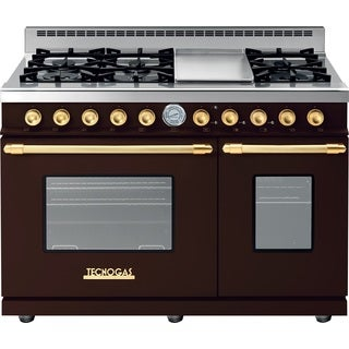 "Tecnogas Superiore Range DECO 48"" Classic Brown, Golden Accents"