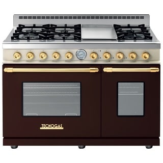 "Tecnogas Superiore Range DECO 48"" Classic Brown Dual Color, Golden Accents"