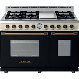 "Tecnogas Superiore Range DECO 48"" Classic Black Dual Color, Brass Accents"