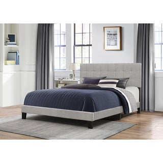 Hillsdale Furniture Delaney Tufted Grey Fabric Bed