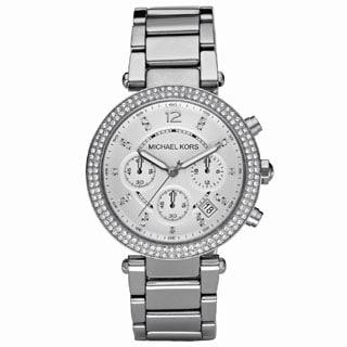 Michael Kors Women's MK5353 Crystal Bezel Stainless Steel Chronograph Watch