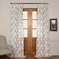 Exclusive Fabrics Normandy Grey Printed Sheer Curtain Panel