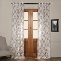 Exclusive Fabrics Normandy Printed Sheer Grommet Top Curtain Panel