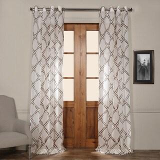 Exclusive Fabrics Normandy Printed Sheer Grommet Top Curtain Panel