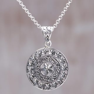Handmade Sterling Silver 'Sacred Petals' Necklace (Indonesia)