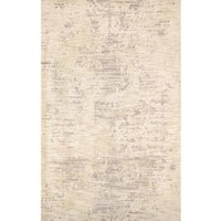 Pasargad's Modern Collection Beige Microfiber Hand Tufted Area Rug - 5 x 8
