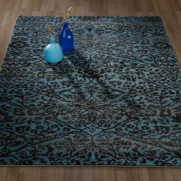 Floral Damask Area Rug: Shop City Collection Contemporary Sculpted Effect Floral