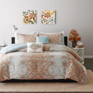 Intelligent Design Raina 5-piece Full/ Queen Size Comforter Set in Orange (As Is Item)