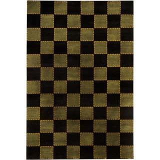 Mandara Hand-knotted Contemporary Geometric Pattern Rug (10'x14')