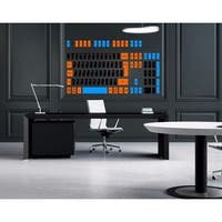 Computer keyboard Full Color Decal, keyboard Full color sticker,colored Sticker Decal size 33x45
