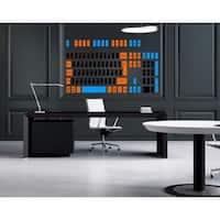 Computer keyboard Full Color Decal, keyboard Full color sticker,colored Sticker Decall size 44x60