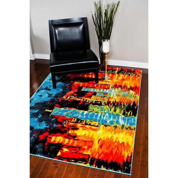 "Persian Rugs Lava Colors Polypropylene Area Rug - 7'10"" x 10'"